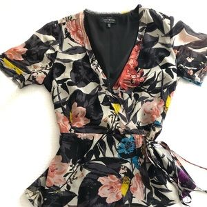 Lucky Brand Floral Wrap Shirt